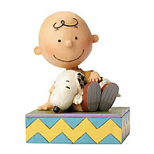 Peanuts Charlie Brown With Snoopy Figurine - Product number 4131479