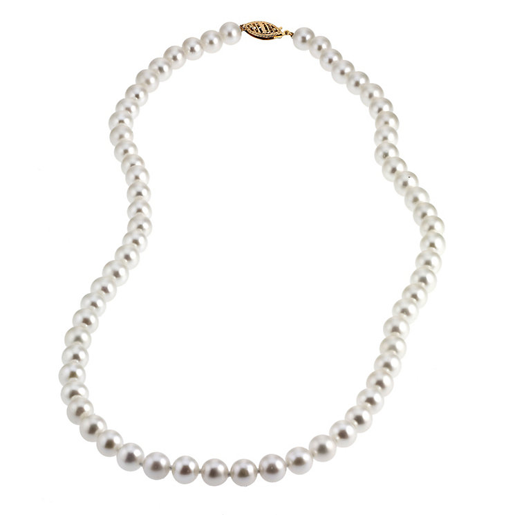 9ct Gold Certified Cultured Freshwater Pearl Necklace - Product number 4137485