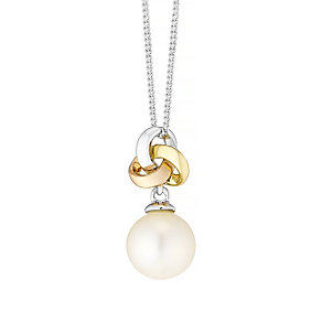 9ct Gold 3 Colour Cultured Freshwater Pearl Knot Pendant - Product number 4137574