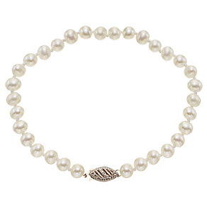 9ct Rose Gold Certified Cultured Freshwater Pearl Bracelet - Product number 4138104