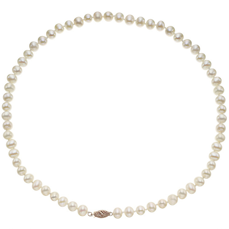 9ct Rose Gold Certified Cultured Freshwater Pearl Necklace - Product number 4138171