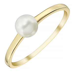 9ct Gold 5.5mm Cultured Freshwater Pearl Ring - Product number 4139992