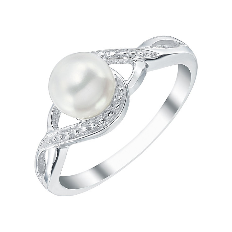 Sterling Silver Cultured Freshwater Pearl Ring - Product number 4143884