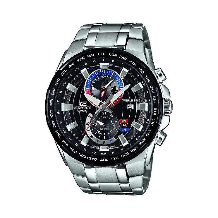 Casio Men's Round Black Dial Stainless Steel Bracelet Watch - Product number 4144252