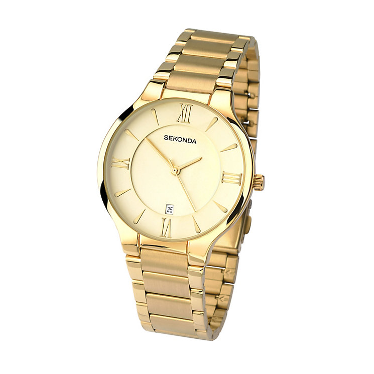 Sekonda Men's Rose Gold Plate Stainless Steel Bracelet Watch - Product number 4146026