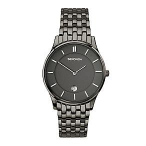 Sekonda Men's Gunmetal Grey Stainless Steel Bracelet Watch - Product number 4146042