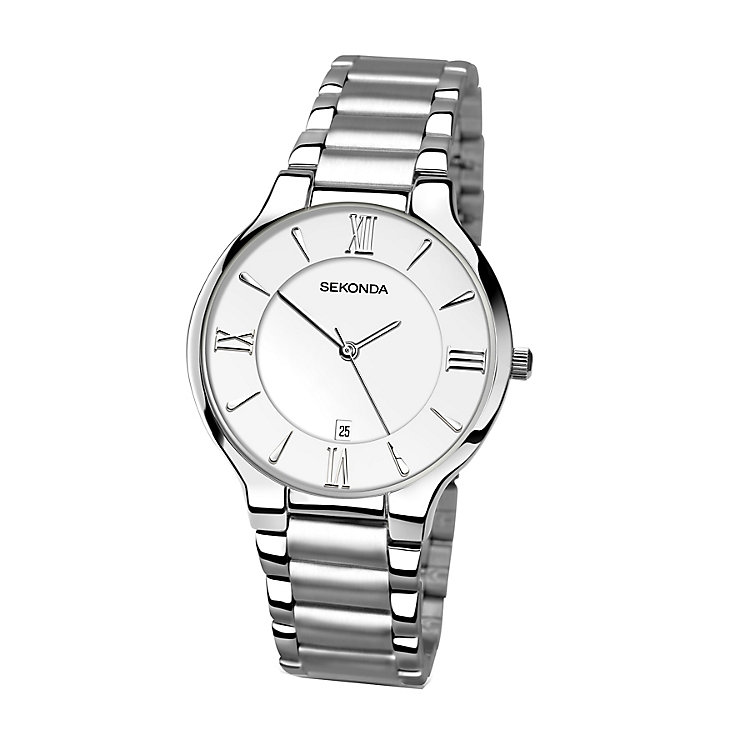 Sekonda Men's Silver Dial Stainless Steel Bracelet Watch - Product number 4146069