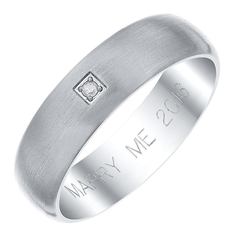 Titanium Diamond Marry Me Ring - Product number 4147081