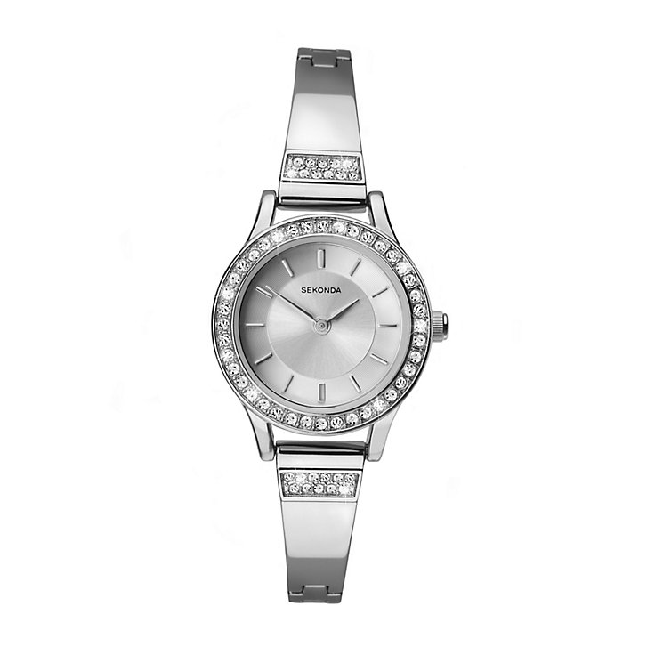 Sekonda Ladies' Round White Dial Chrome Bracelet Watch - Product number 4147464