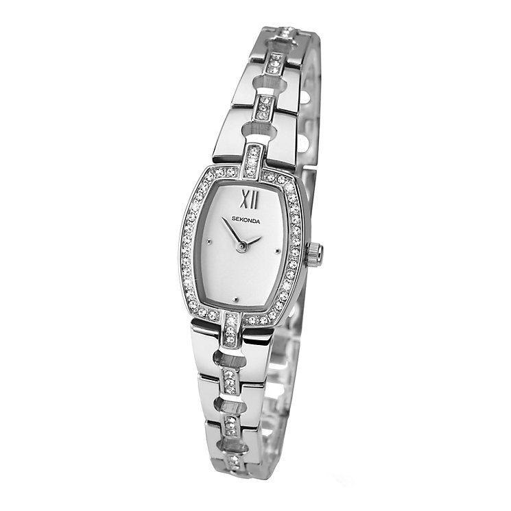 Sekonda Ladies' Round White Dial Chrome Bracelet Watch - Product number 4147561