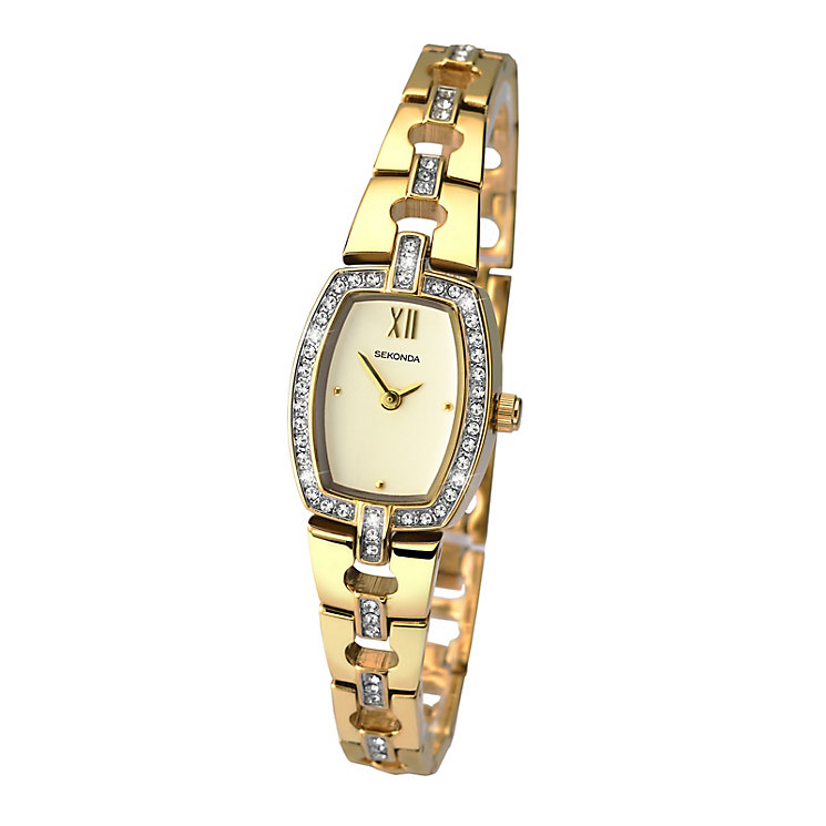 Sekonda Ladies' Round Champagne Dial Two Tone Bracelet Watch - Product number 4147588