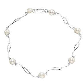 Sterling Silver Cultured Freshwater Pearl Bracelet - Product number 4147685