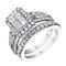 9ct White Gold 1.25 Carat Diamond Bridal Ring Set - Product number 4154517