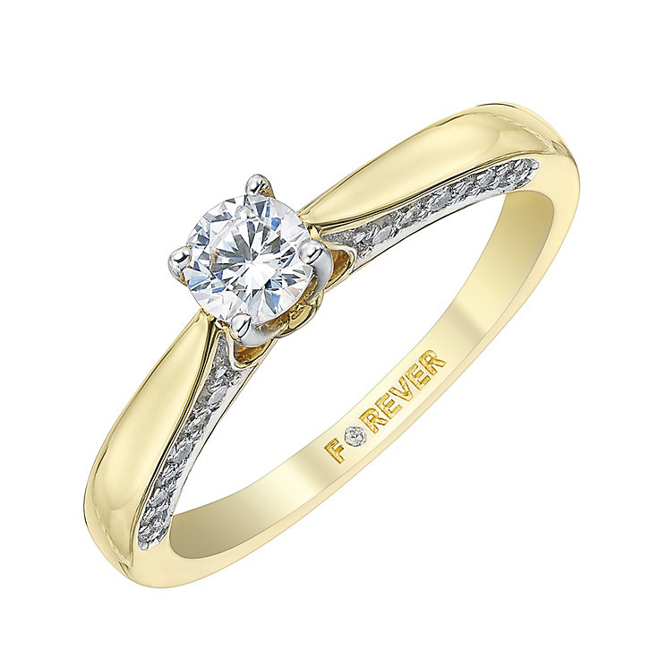 The Forever Diamond 18ct Gold 2/5 Carat Diamond Ring - Product number 4155599