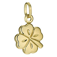 9ct Gold Four Leaf Clover Charm - Product number 4157109