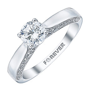 The Forever Diamond 18ct White Gold 1 Carat Diamond Ring - Product number 4157206