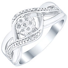 Silver and Diamond Cluster Eternity Ring - Product number 4160711