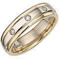 Bride's Two-colour Gold Diamond Ring - Product number 4164083