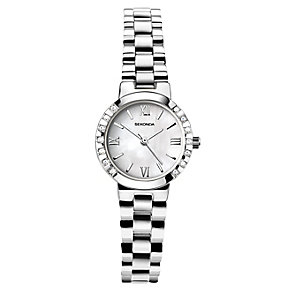 Sekonda Ladies' Stone Set Stainless Steel Bracelet Watch - Product number 4164547