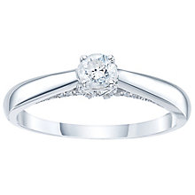 9ct White Gold 1/4 Carat Diamond Solitaire Ring - Product number 4168186