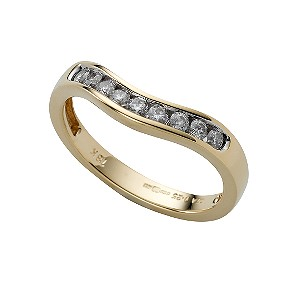 18ct gold quarter carat diamond wedding ring - Product number 4171888