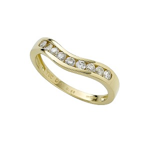 18ct gold third carat diamond wedding ring - Product number 4172019