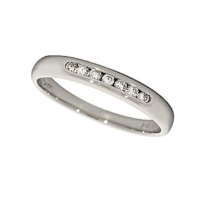 18ct white gold quarter carat diamond wedding ring - Product number 4172159
