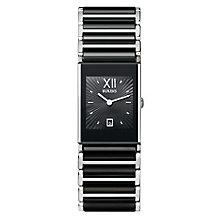Rado Ladies' Stone Set Two Colour Black Bracelet Watch - Product number 4183118