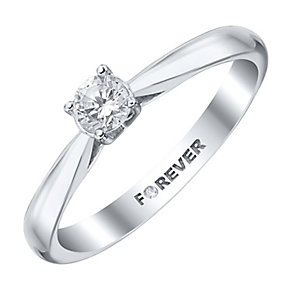 The Forever Diamond Platinum 1/3 Carat Diamond Ring - Product number 4183533