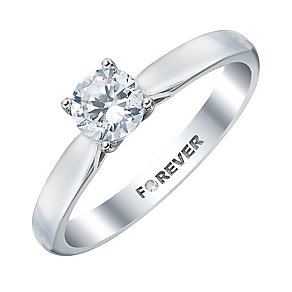 The Forever Diamond Platinum 1/2 Carat Diamond Ring - Product number 4184211