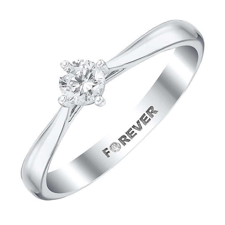 The Forever Diamond 18ct White Gold 1/4 Carat Diamond Ring - Product number 4184475