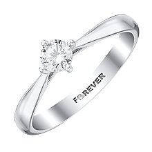 18ct White Gold 1/3 Carat Forever Diamond Ring - Product number 4185382