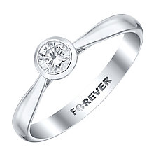 The Forever Diamond 18ct White Gold 1/3 Carat Diamond Ring - Product number 4186176