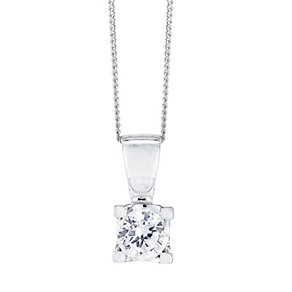 The Forever Diamond 18ct White Gold 1/2ct Diamond Pendant - Product number 4188136