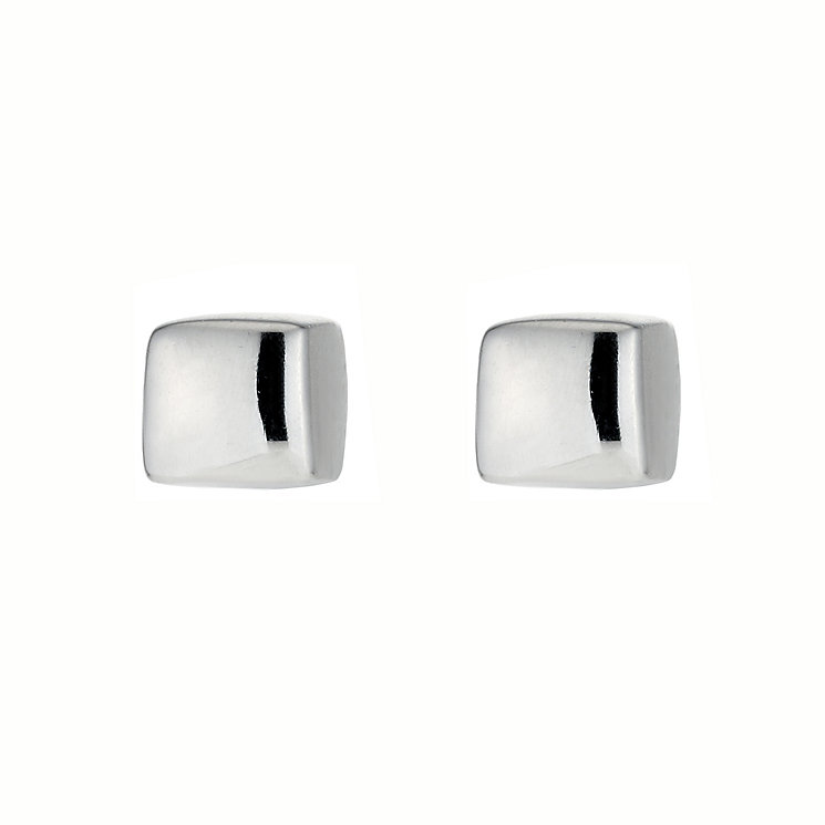 Square Silver Stud Earrings - Product number 4191536