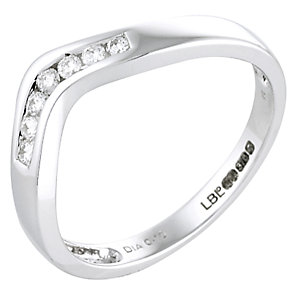 9ct White Gold Diamond V Wedding Ring - Product number 4193040