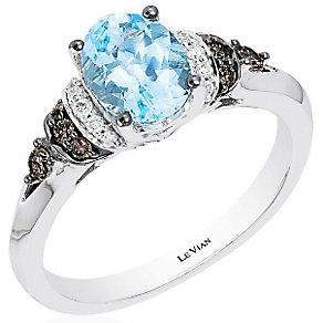 Le Vian 14ct Vanilla Gold Aquamarine & Vanilla Diamond Ring - Product number 4195744