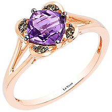 Le Vian 14ct Rose Gold Amethyst & Diamond Ring - Product number 4196236