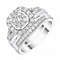 9ct White Gold Cushion Shape 3/4ct Diamond Ring Bridal Set - Product number 4196562