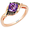 Le Vian 14ct Strawberry Gold Grape Amythest & Diamond Ring - Product number 4196694