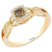 Le Vian 14ct Honey Gold Chocolate & Vanilla Diamond Ring - Product number 4196945