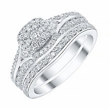 18ct White Gold 1/3 Diamond Perfect Fit Bridal Set - Product number 4197089