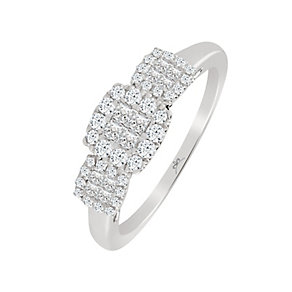 9ct White Gold 0.43 Carat Princessa Ring - Product number 4197747
