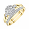 9ct Yellow Gold Round 1/3ct Diamond Ring Bridal Set - Product number 4197887