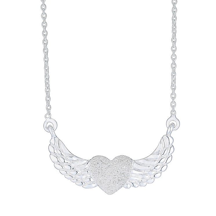 Silver Heart & Wing Necklace - Product number 4198824