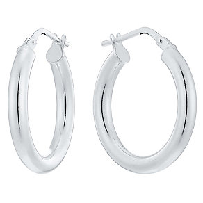 Silver Plain Hoop Earrings - Product number 4198859
