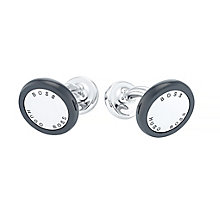 Hugo Boss Stainless Steel Black Enamel Cufflinks - Product number 4198867