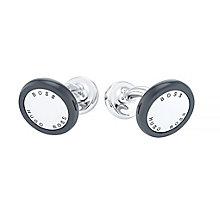 Hugo Boss Stainless Steel Black Enamel Cufflinks - Product number 4198867