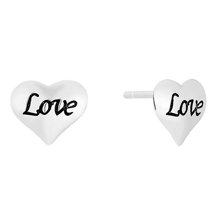 Silver Love Heart Stud Earrings - Product number 4198883