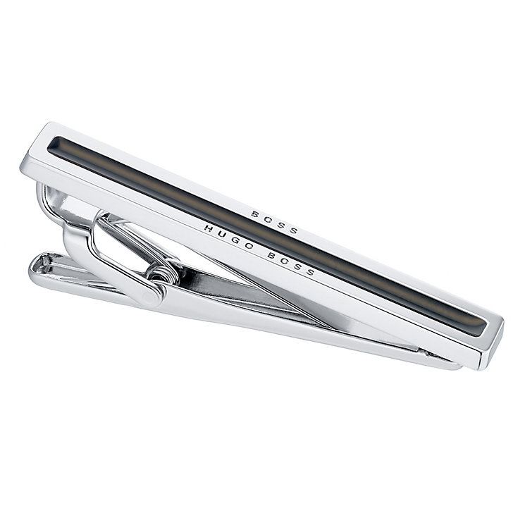 Hugo Boss Stainless Steel Black Enamel Tie Clip - Product number 4199111